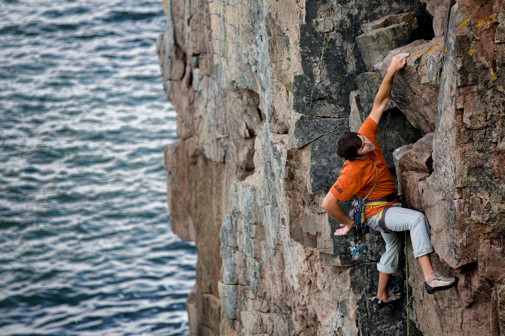 Rock Climbing- Acadia National Park Maine, Otter Cliffs.